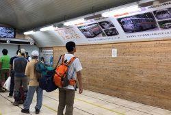 歴代のトロリーバスを紹介するポスターも掲示されている