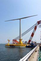 今秋に実証を開始する浮体式洋上風力発電システム