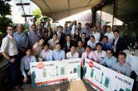 ロンドンで7月に開かれたJEC2018。スタートアップ10社ち日本のエネルギー事業者との間で真剣な議論が繰り広げられた