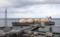 直江津LNG基地に到着した「パシフィック・ブリーズ」