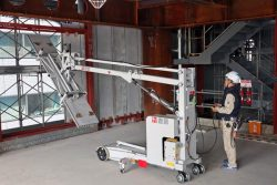 ロボット技術を使った外装材の取り付け作業