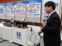 スマートメーター通信を活用すれば漏水の検知も可能に(金沢市で行った報道公開の様子)