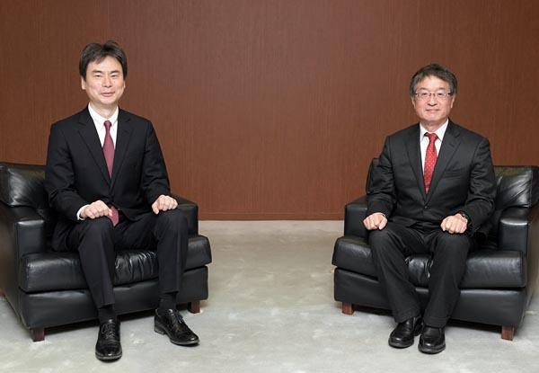 左:杉田修・東京電力パワーグリッドサイバーセキュリティセンター所長右:藤原洋・インターネット総合研究所所長兼ブロードバンドタワー会長兼社長CEO