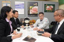 福島牛のブランド力強化に向けた検討が進んでいる(右から2人目がJA全農福島の小松氏)